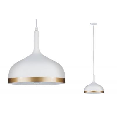 LED stropní/závěsné svítidlo NEORDIC Embla bílá/zlatá E27