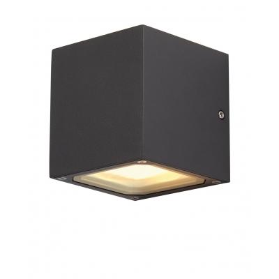 Venkovní designové fasádní svítidlo SITRA CUBE antracit
