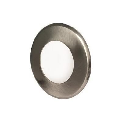 LED podhledové svítidlo VEGA 3W stříbrné kulaté