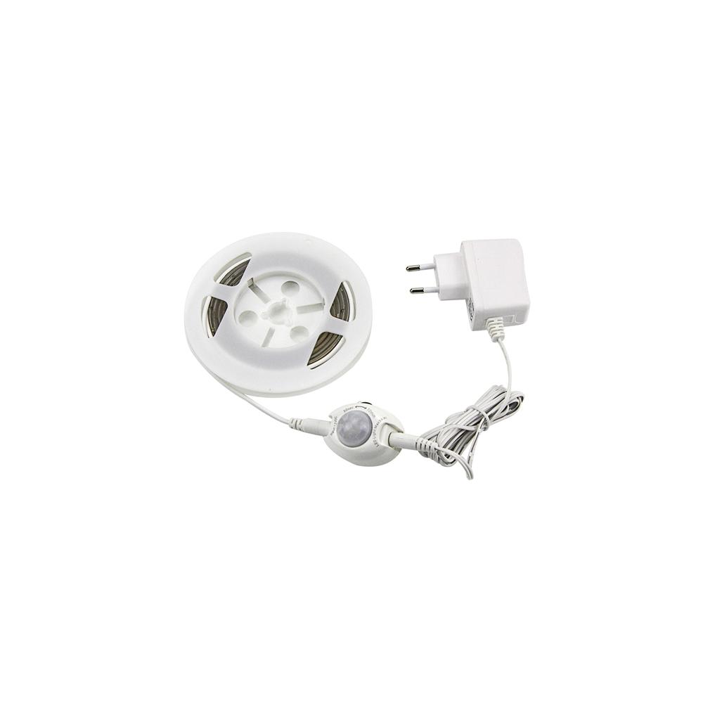 Postelové osvětlení, set 2x LED pásku s 2x PIR