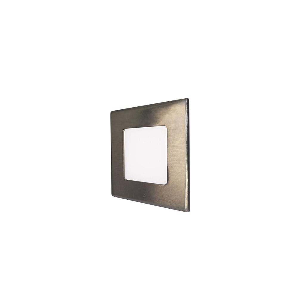 LED podhledové svítidlo VEGA 3W stříbrné hranaté