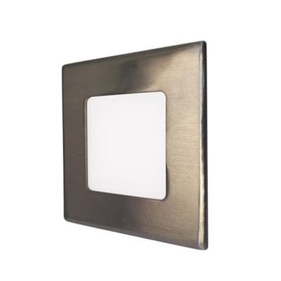 LED podhledové svítidlo VEGA 6W stříbrné hranaté