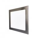 LED vestavné podhledové svítidlo VEGA 12W stříbrné hranaté