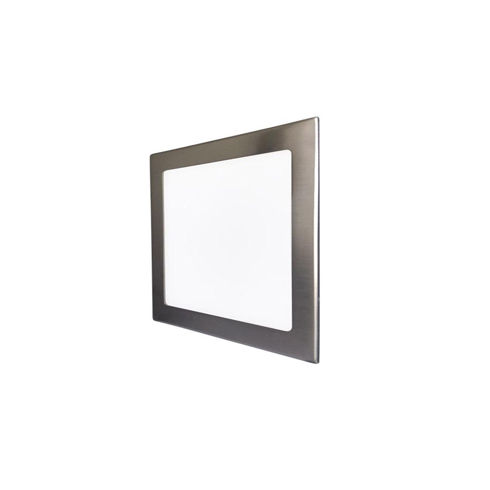 LED podhledové svítidlo VEGA 18W stříbrné hranaté