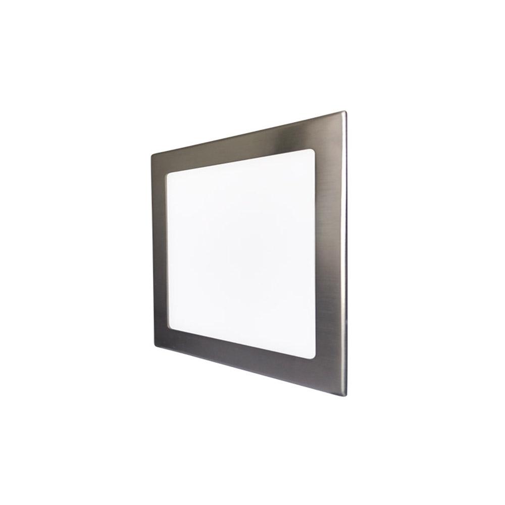 LED podhledové svítidlo VEGA 24W stříbrné hranaté