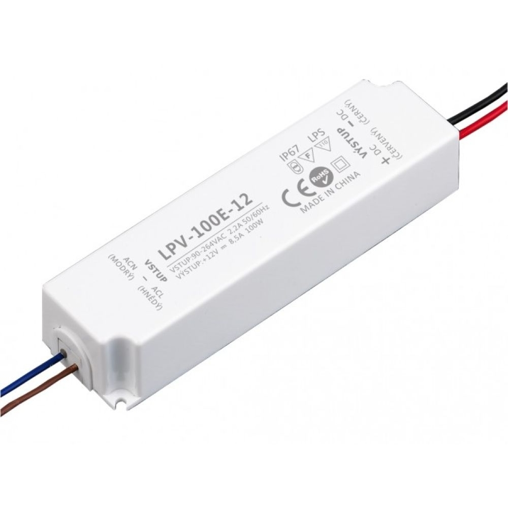 Voděodolný napájecí zdroj LPV 100W 12V