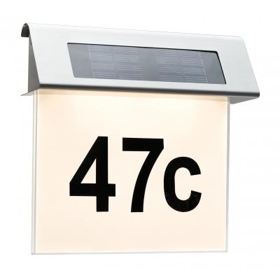 Venkovní solární svítidlo, osvětlení čísla domu IP44