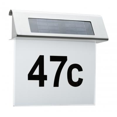 Venkovní solární svítidlo, osvětlení čísla domů IP44