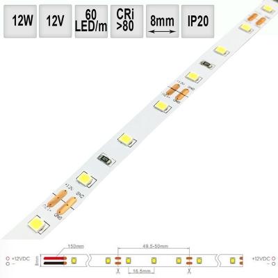LED pásek 13W/m 12V CRI80 IP20