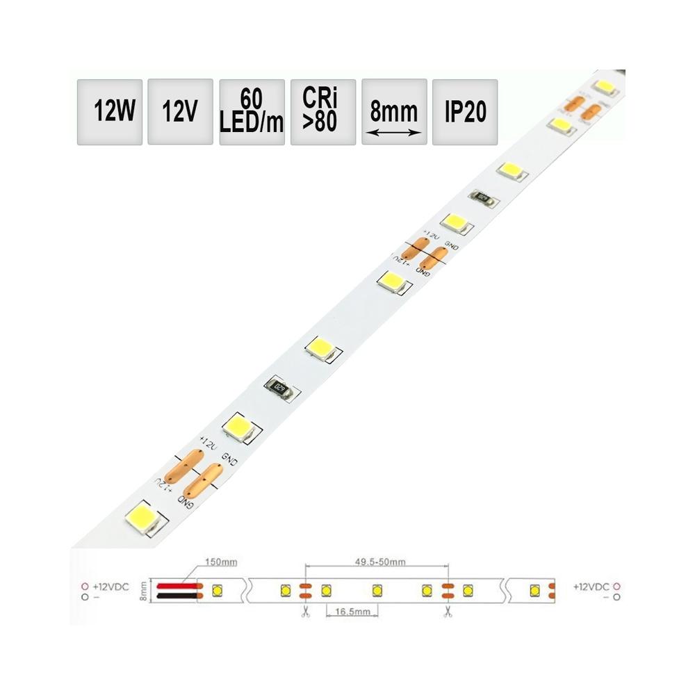 LED pásek 12W/m IP20