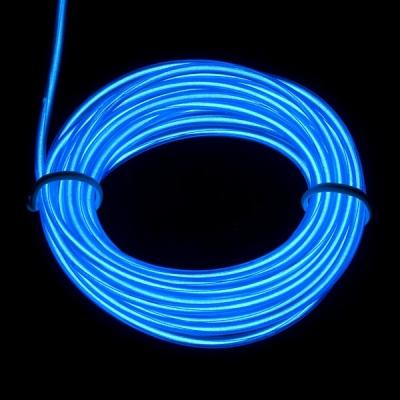EL WIRE - svítící kabel - barva modrá - přerušovaná 1m