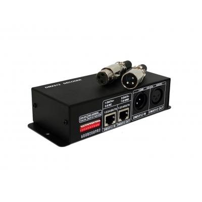 LED ovládač 4K DMX 512-4A