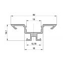 Rohový hliníkový ALU profil 1