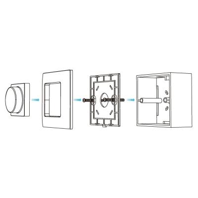 dimLED nástěnný ovladač bezdrátový jednokanálový