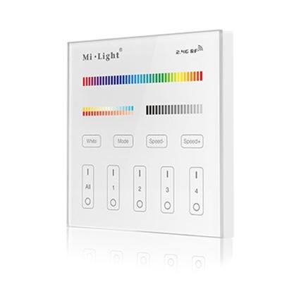 Milight RGB+CCT nástěnný ovladač 4 zóny 230V