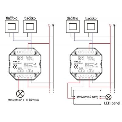 dimLED stmívač TRIAK 230V