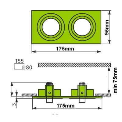 Podhledový rámeček D10-2