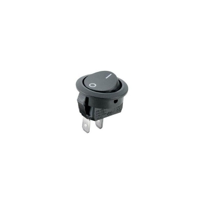 Vypínač kolébkový malý 250V/1A černý