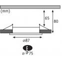Podhledový rámeček Paulmann profi IP65 MR16/GU5.3 kulatý kartáčovaný hliník