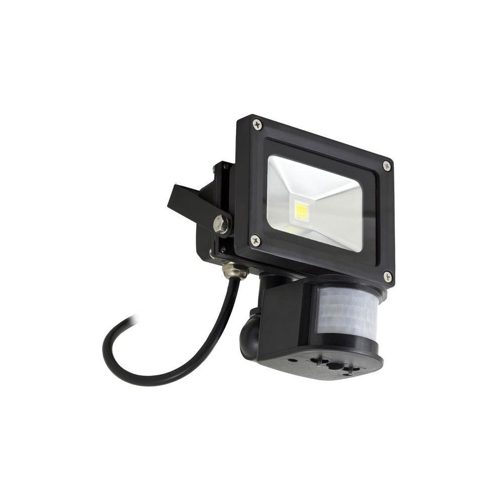LED PIR Reflektor 10W černý
