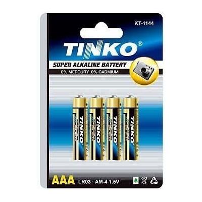 Tužkové alkalické baterie AAA(LR03) 1,5V 4ks
