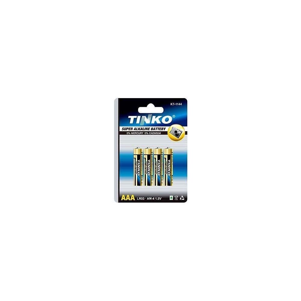 Baterie TINKO LR03, 1,5V AAA, alkalická 4ks