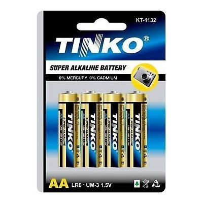 Tužkové alkalické baterie AA( LR6) 1,5V 4ks