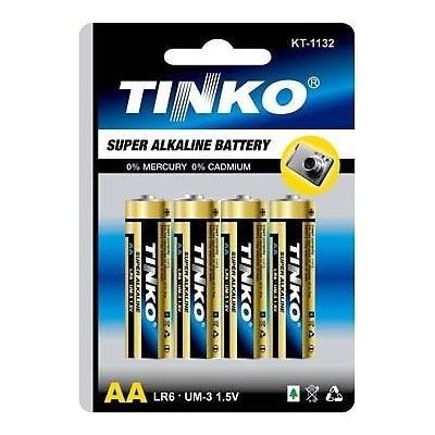 Baterie TINKO LR6, 1,5V AA, alkalická 4ks