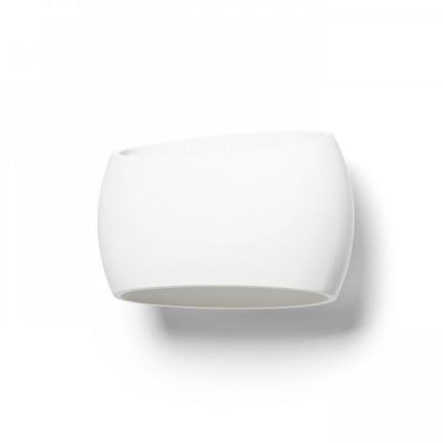Nástěnné oválové sádrové svítidlo GAN E27