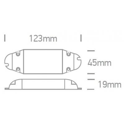 LED proudový zdroj 700mA, 7-15W, 220-240V