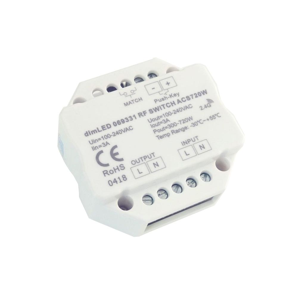 dimLED spínač spotřebičů 230V 720W