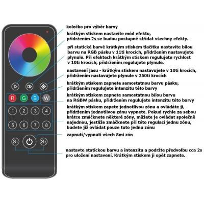dimLED dálkový ovladač RGBW OVXL osmikanálový