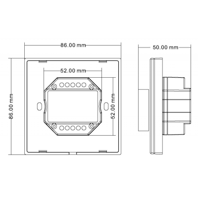 dimLED nástěnný CCT ovladač bezdrátový DUPLEX