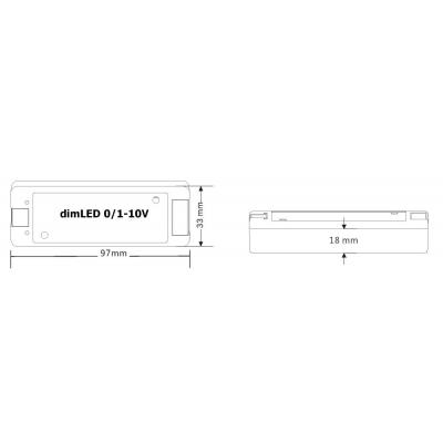 dimLED přijímací jednotka, stmívač 0/1-10V 8A