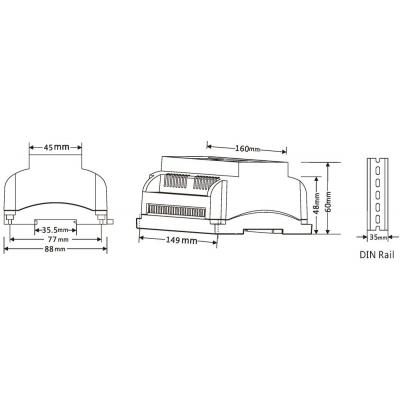dimLED dekodér DMX12CH-12kanálový