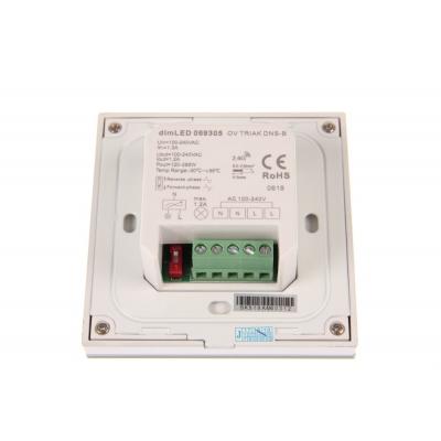 dimLED nástěnný OV TRIAK ovladač DNS pro LED 230V