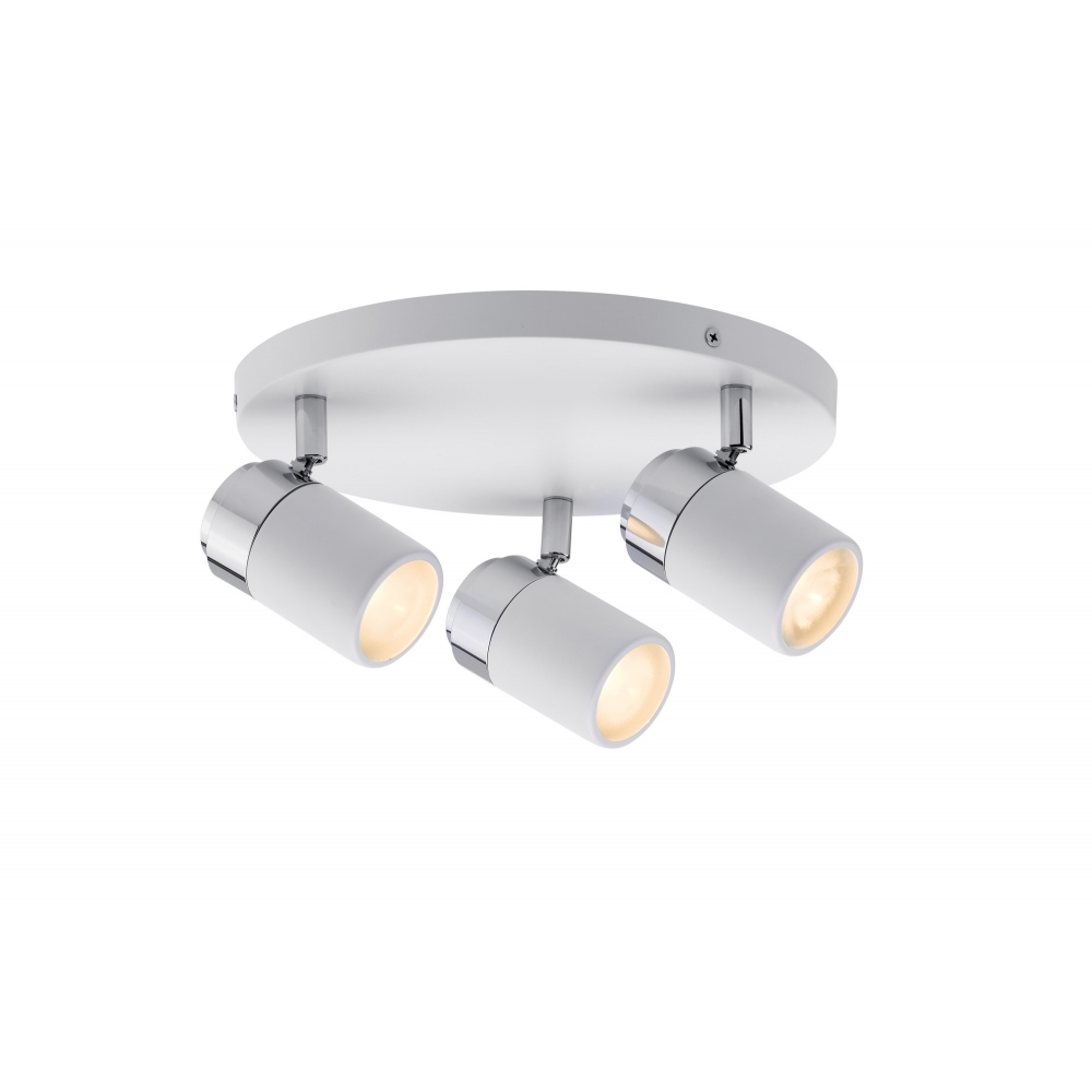 LED spotové svítidlo Zyli bílá/chrom 3xGU10 IP44