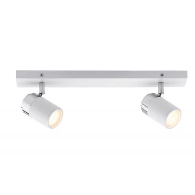 LED spotové svítidlo Zyli bílá/chrom 2xGU10 IP44 hranaté