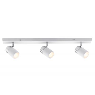 LED spotové svítidlo Zyli bílá/chrom 3xGU10 IP44 hranaté