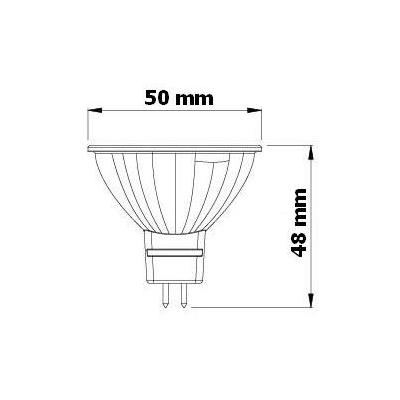 LED žárovka 3,5W MR16 12V