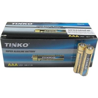 Tužkové alkalické baterie AAA(LR03) 1,5V 60ks