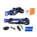 LED čelovka 8W LTC LL48 modrá