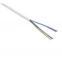 RGB kabel 4x0,5mm kulatý bílý
