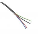 RGB kabel 4x0,5mm kulatý černý
