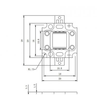 LED čip EPISTAR COB 10W 300mA