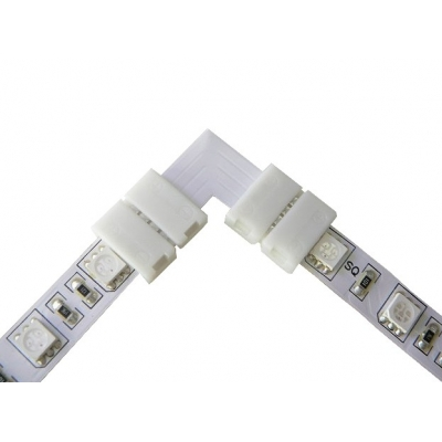 Nepájivá rohová spojka pro RGB LED pásky 10mm