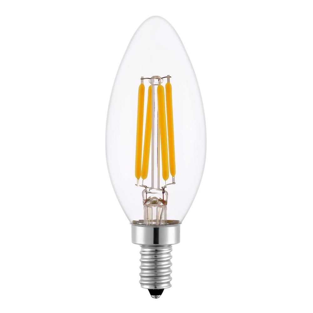 LED žárovka svíčka Filament 4W E14