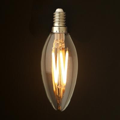 LED žárovka svíčka 4W E14 CRI80 Filament