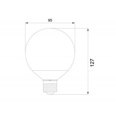 LED žárovka 12W E27 LU Design