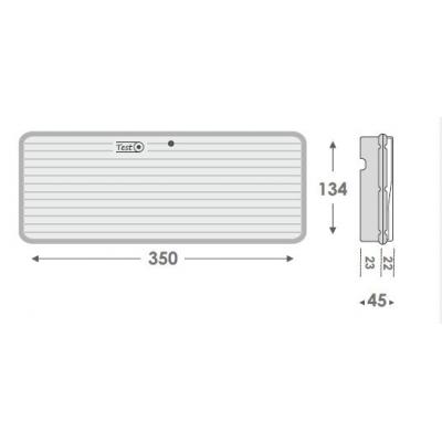 Nouzové LED svítidlo GR-310/12L/90